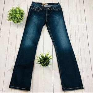 BKE Kate Boot Cut Factory Distressed Jeans Size 29
